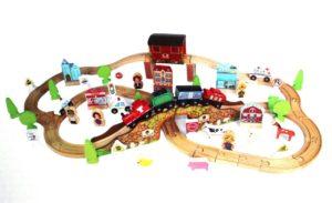Деревянная железная дорога E17P02 EDWONE 100 деталей