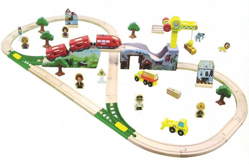 Деревянная железная дорога EDWONE E16A09A 70 деталей