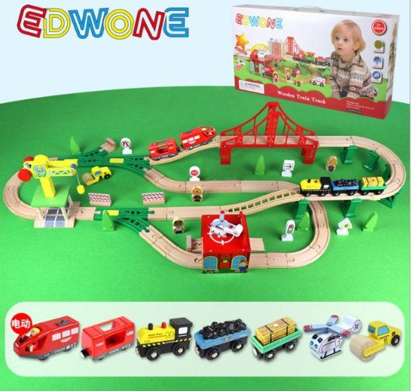 Деревянная железная дорога EDWONE E18A12A 84 детали