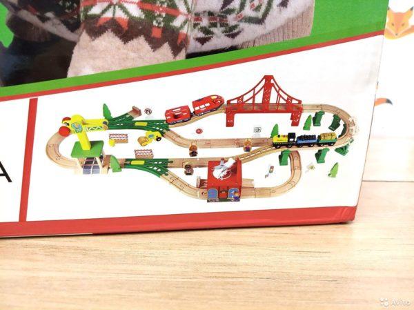 Деревянная железная дорога EDWONE E18A12A 84 детали коробка