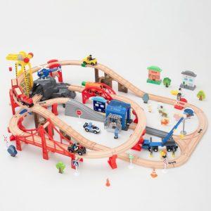 Деревянная железная дорога 154 детали