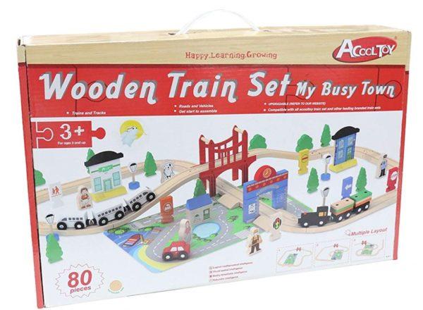 Деревянная железная дорога Acooltoy AC7506 My Busy Train
